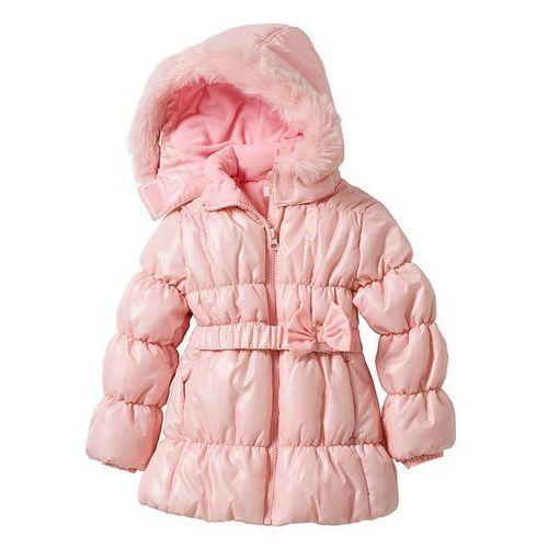 Długa kurtka watowana bonprix pudrowy jasnoróżowy - produkt z kategorii- kurtki dla dzieci