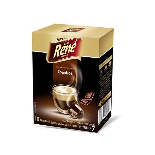 Nespresso kapsułki Rene chocolate (kawa aromatyzowana) kapsułki do nespresso – 10 kapsułek