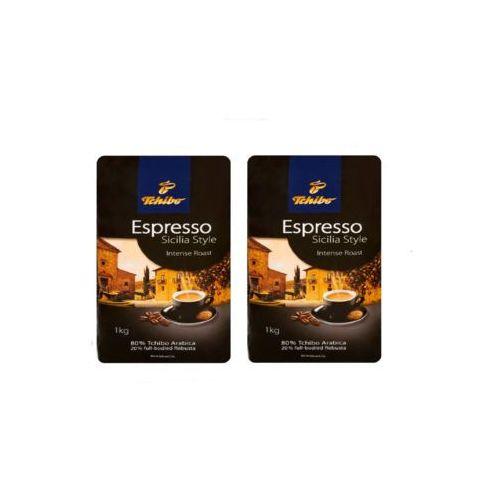 Zestaw 2x TCHIBO Espresso Sicilia Style Intense Roast Kawa Palona Ziarnista 1kg