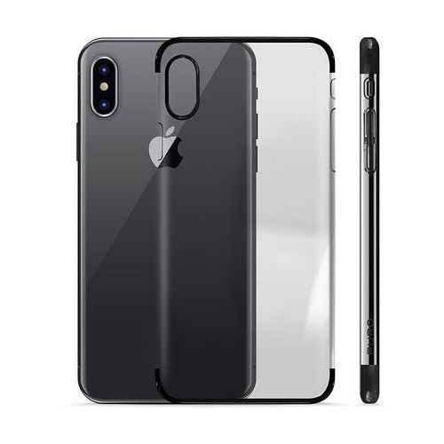 PURO Verge Crystal Cover - Etui iPhone X (czarny) (8033830194122)