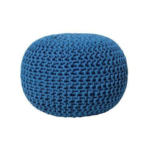 Beliani Pufa niebieska - hoker - podnóżek - otomana - 50x35 cm - conrad (7081454677201)