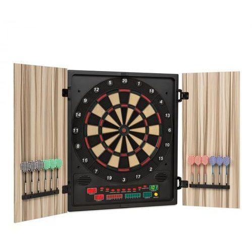 Oneconcept dartmaster 180 tarcza do darta automat do darta miękkie rzutki drzwi beżowy