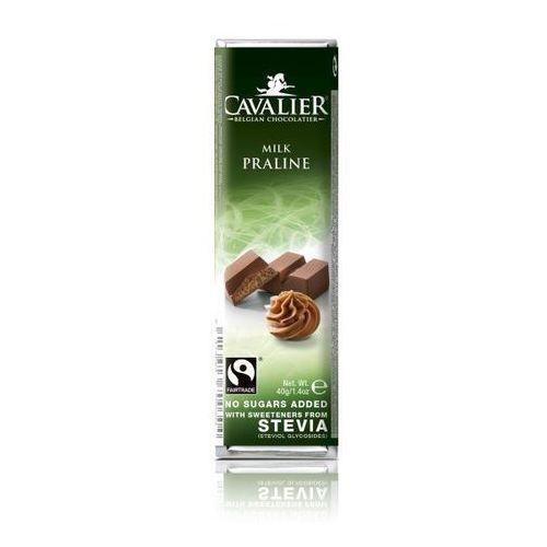 Baton z czekolady mlecznej z nadzieniem pralinowym