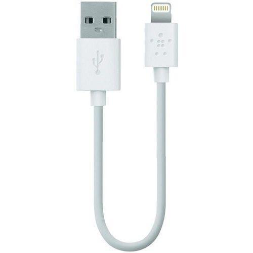 Kabel usb 2.0,  f8j023bt06inwht, do ipoda, iphone'a, ipada, 0,15 m, lightning (5/5s/5c), biały wyprodukowany przez Belkin