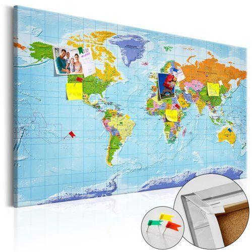 Artgeist Obraz na korku - mapa świata: flagi państw [mapa korkowa]