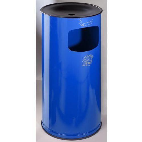 Bezpieczna popielniczka combi, blacha stalowa, wys. 710 mm, miejsce na odpady: 4