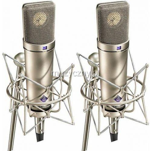 u87 ai stereo set para mikrofonów studyjnych z uchwytami ea87, kolor niklowy marki Neumann