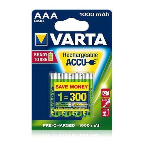 Akumulator ready2use aaa micro ni-mh 1000mah hr03 (4 szt) marki Varta