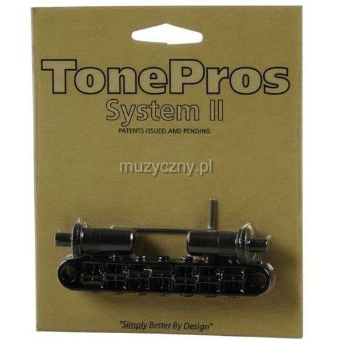 Tonepros mostek nashville typu tune-o-matic do gitary 7-strunowej, czarny, metryczny