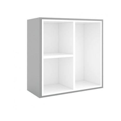 Biblioteka MODUL 800 x 800 mm + wewnętrzny moduł, szary/biały