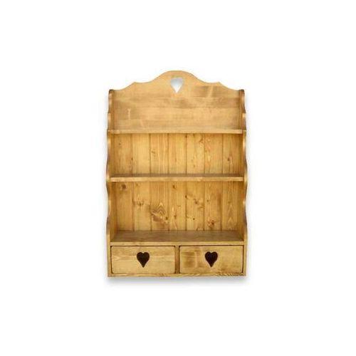 Półka wisząca z drewna świerkowego Mexicana 2 - sprawdź w Seart - Meble z Drewna