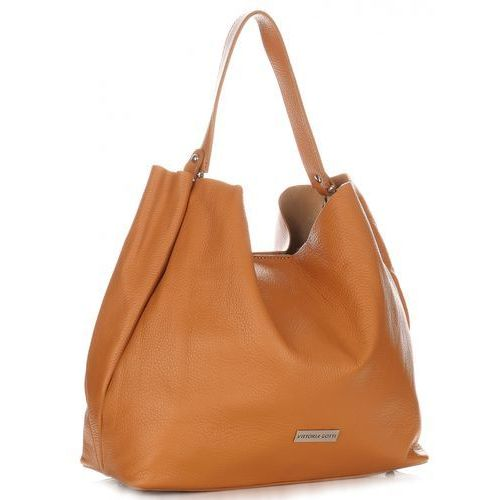 87033a7e3554d Vittoria gotti Torebka ze skóry naturalnej typu shopperbag ruda (kolory)  249,99 zł Bądź lubiana, wybierając uniwersalny model shopperki od firmy  Vittoria ...