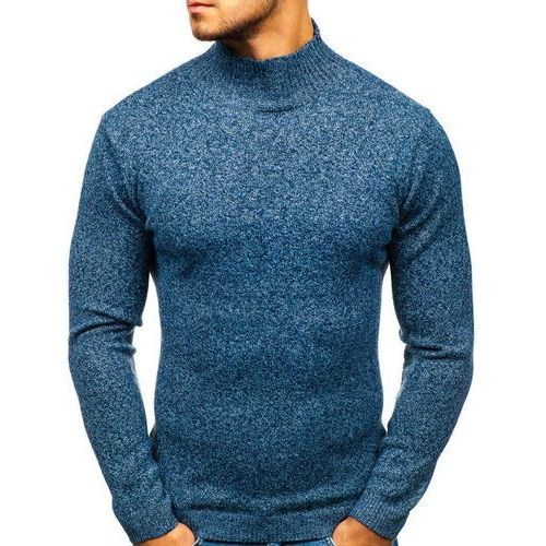 Sweter męski golf niebieski denley h1801, Hot red