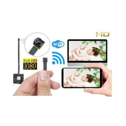 Szpiegowska Mini-Kamera HD/FULL HD (do ukrycia/zabudowy) WiFi/P2P (zasięg cały świat!) + Zapis..., 590175109535