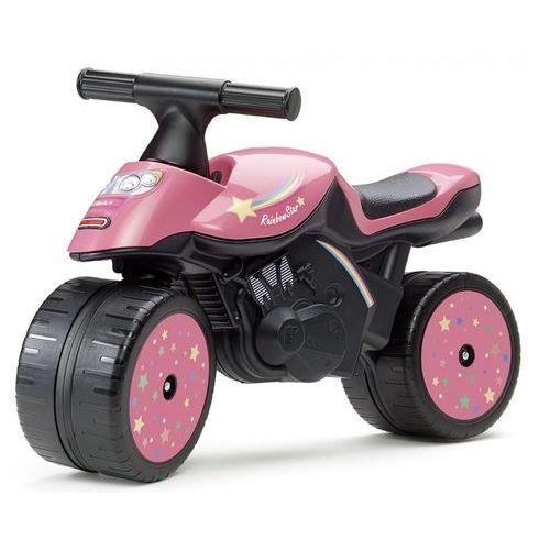 Falk Motocykl Rainbow star różowy