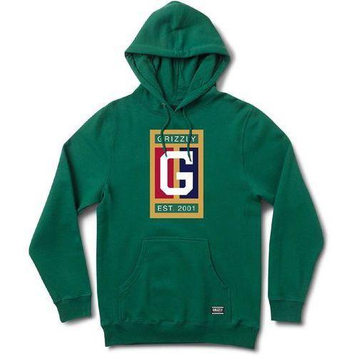 bluza GRIZZLY - Off The Court Hoodie Forest Green (FGRN) rozmiar: L, kolor zielony