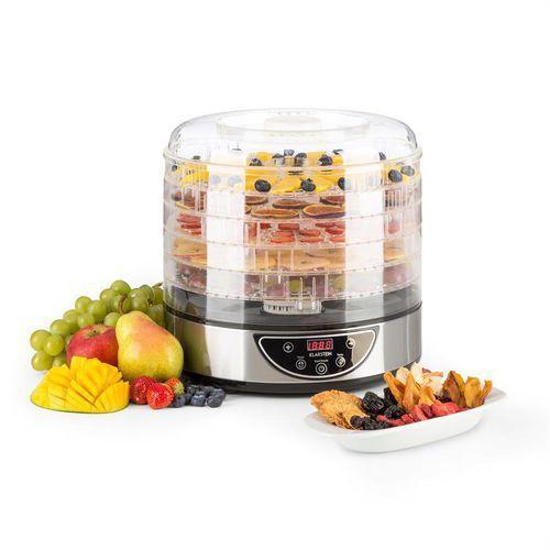 Klarstein fruitower d suszarka do owoców i warzyw timer 5 poziomów stal szlachet