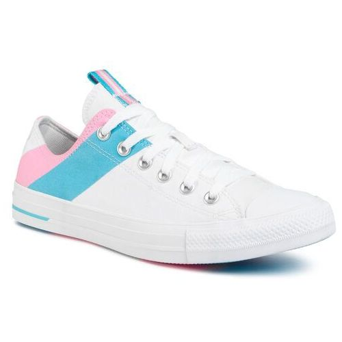 Converse Trampki - ctas ox 167760c white/90s pink/gnarly blue