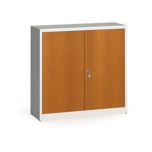 Alfa 3 Szafy spawane z laminowanymi drzwiami, 1150 x 1200 x 400 mm, ral 7035/czereśnia