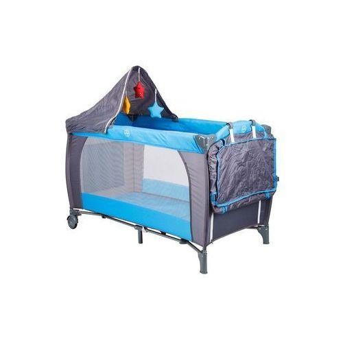 Łóżeczko turystyczne Hop-Sport niebieskie + moskitierka + daszek + koszyk gratis - produkt dostępny w Hegen