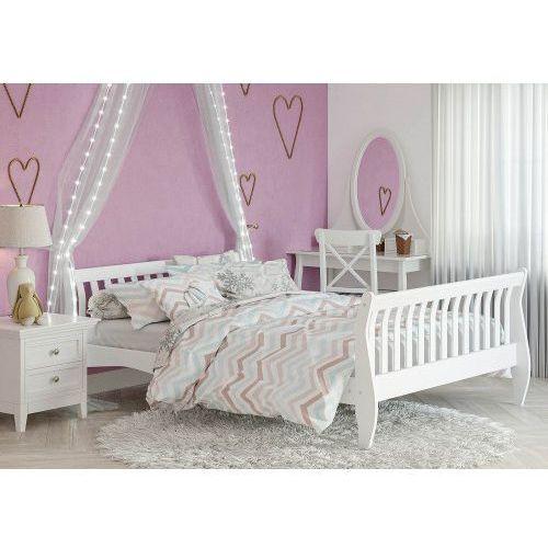 Łóżko drewniane białe 160x200 model 1004 marki Meblemwm