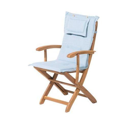 Beliani Poducha na krzesło java/maui jasnoniebieska
