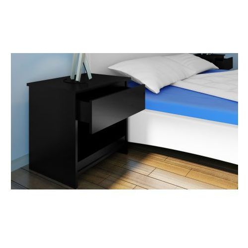 Stolik nocny, szafka nocna z szufladą, czarna - produkt dostępny w VidaXL