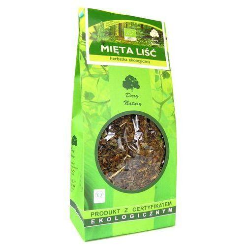 Dary natury - herbatki bio Herbatka liść mięty bio 100 g - dary natury (5902741007865)