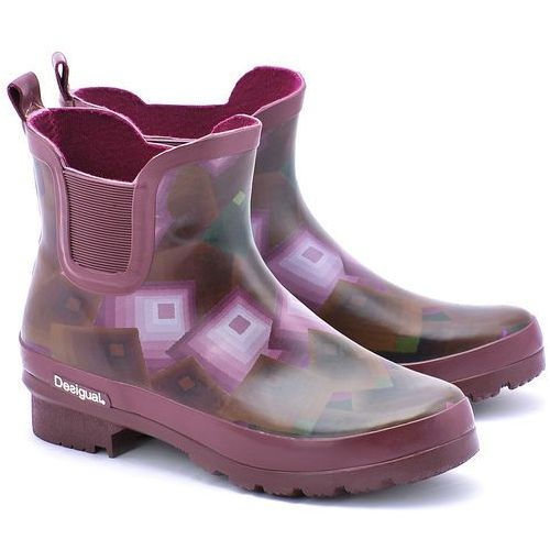Noa - Bordowe Gumowe Kalosze Damskie - 46AS641 (kalosz damski) od MIVO Shoes Shop On-line