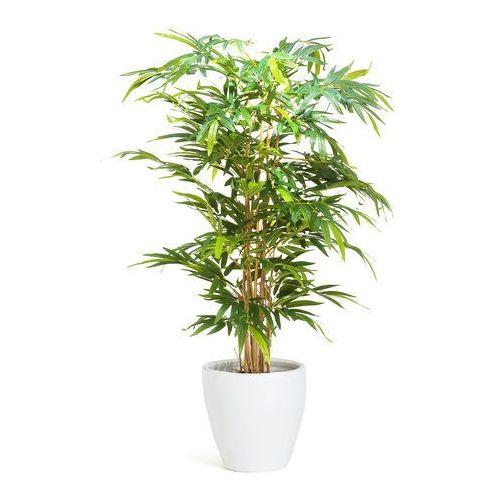 Drzewko bambusowe 1500 mm dostarczany z białą donicą, 1321612