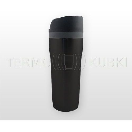 Kubek termiczny SLIM 350 ml (czarny), kolor czarny