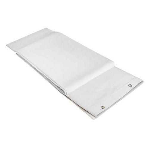 Adam Hall Accessories 0151 X 33 WH - Molton dekoracyjny B1 z oksydowanymi oczkami, obrębiony, 3 x 3 m, biały