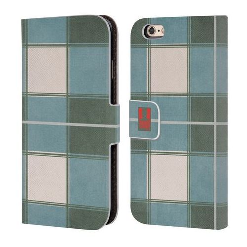 Etui portfel na telefon - Plaid Pattern Green Blue, kolor zielony