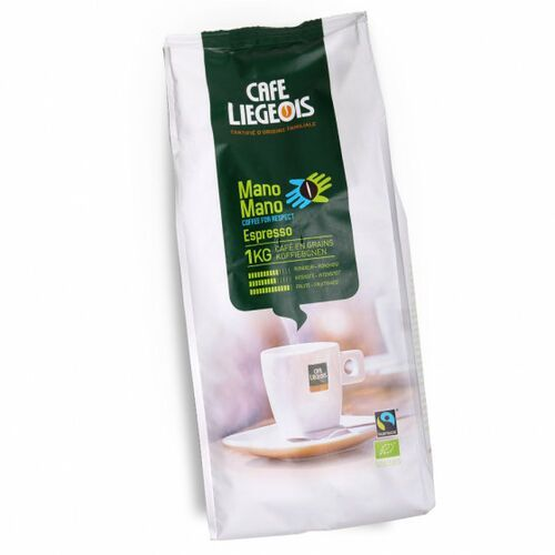 "Kawa ziarnista Café Liégeois ""Mano Mano"", 1 kg (5411651100820)"