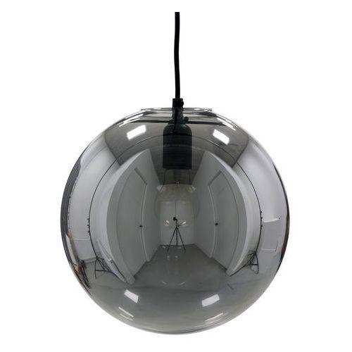 Hk living szklana lampa wisząca z powłoką odblaskową o średnicy 30cm, szara vol5013 (8718921014274)
