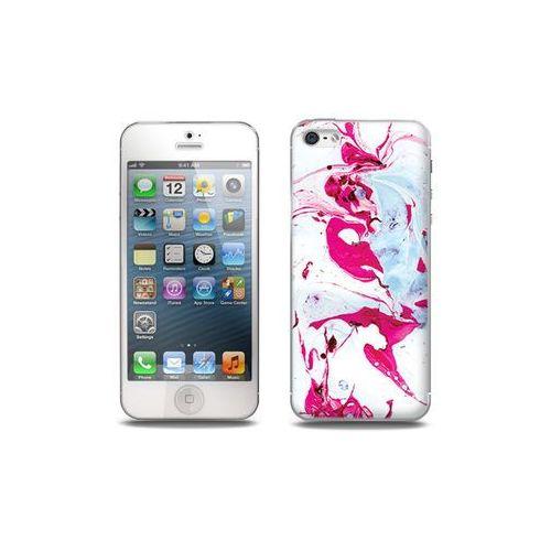 Apple iPhone 5 / 5S - etui na telefon Full Body Slim Fantastic - różowy marmur