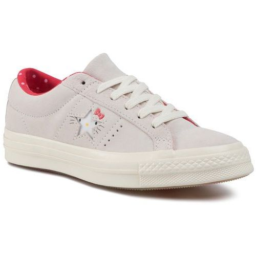 Tenisówki - one star ox 162937c vaporous gray/egret/fiery red, Converse, 36-38