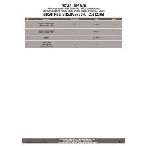 KAPPA KPR7408 OSŁONA CHŁODNICY DUCATI Multistrada Enduro 1200 (16) CZARNA