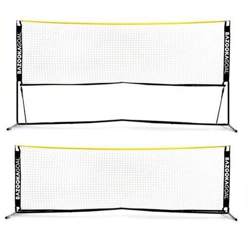 Bazookagoal Słupki siatka do siatkonogi badmintona siatkówki 300x100 cm