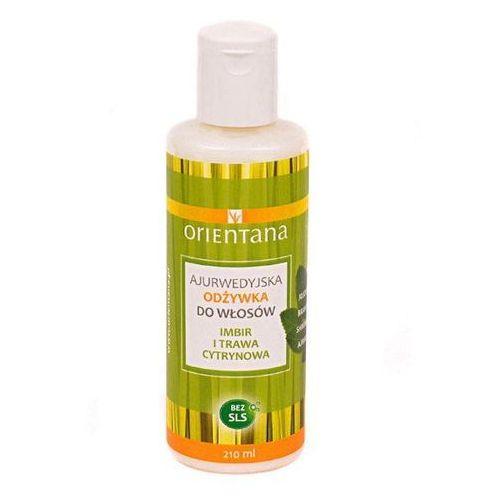 Ajurwedyjska odżywka do włosów Orientana imbir i trawa cytrynowa 210 ml (5902596416614)