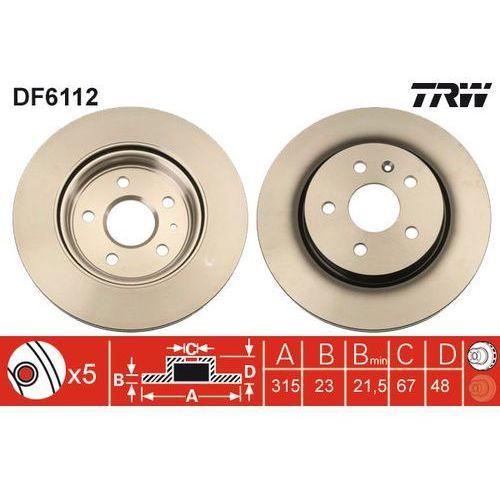 TARCZA HAM TRW DF6112 OPEL INSIGNIA 1.8 140KM, 2.0T 220KM, 2.0CDTI 131KM 08-, TRW DF6112