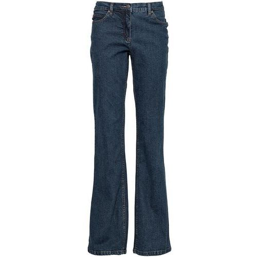 Bonprix Dżinsy BOOTCUT  ciemnoniebieski, niebieska, max rozmiar: 54