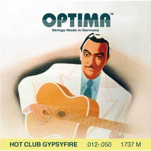 (667527) struny do gitary akustycznej hot club gypsyfire, posrebrzane - komplet marki Optima