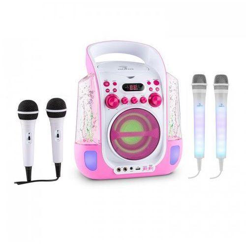 Kara liquida zestaw do karaoke różowy + kara dazzl zestaw mikrofonów led marki Auna