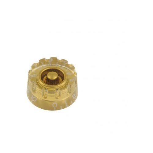 kg-112 gałka potencjometru speed knob perforowana, złota marki Boston