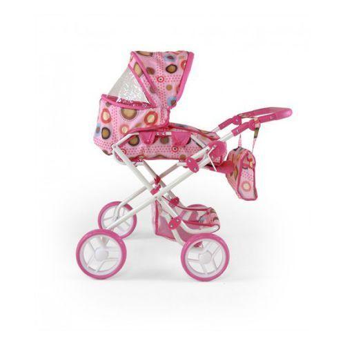 Wózek dla lalek PAULINA zabawka różowo-brązowy (wózek dla lalki)