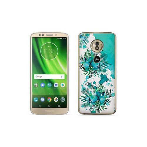Motorola Moto G6 Play - etui na telefon Fantastic Case - turkusowa orchidea