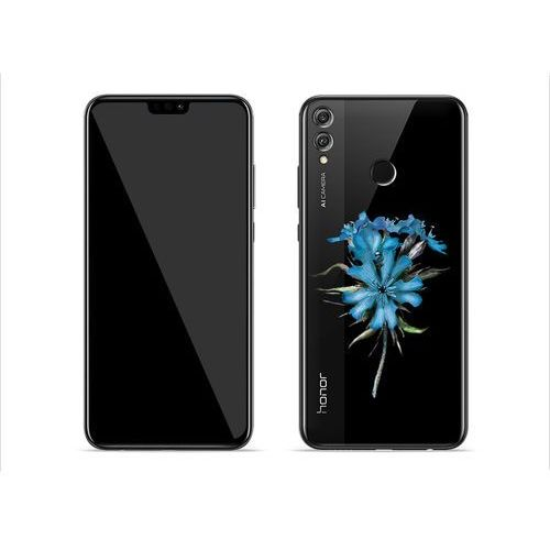 Huawei honor 8x - etui na telefon crystal design - lazurowy kwiat marki Etuo crystal design