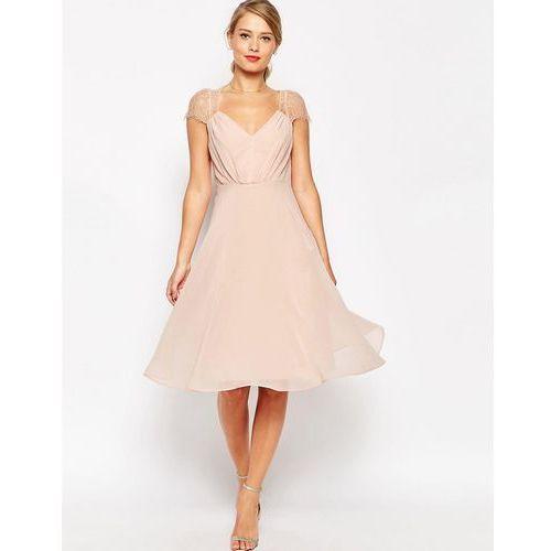 kate lace midi dress - pink, Asos