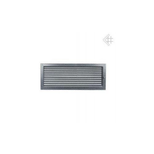 Kratka kominkowa malowana czarno-srebrna 22x45 z żaluzją, 6674-898A9_20130202135717